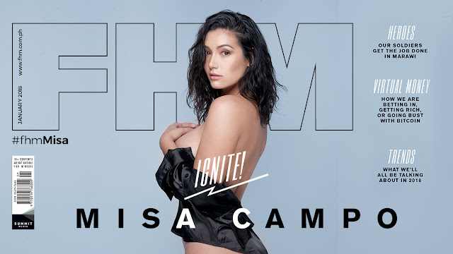 Misa Campo on FHM January 2018 Cover Babe