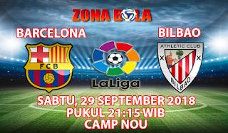 Prediksi Bola Barcelona vs Athletic Bilbao 29 September 2018