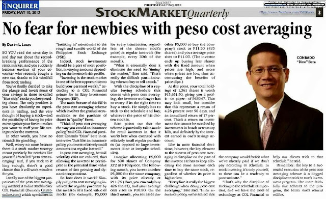 No fear for newbies with peso cost averaging
