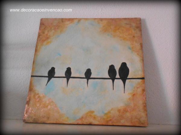 cuadro de pájaros
