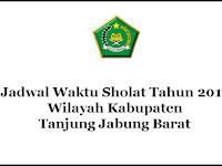Jadwal Waktu Sholat Tahun 2017 Wilayah Kabupaten Tanjung Jabung Barat