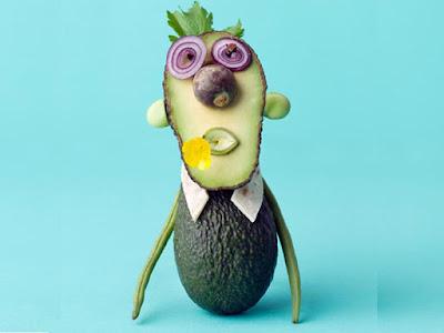 avocado fruit art design