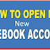 Facebook New Account Open