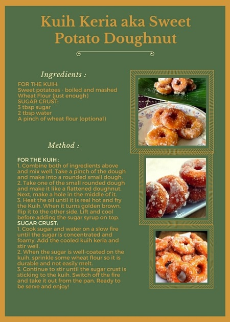 KUIH KERIA aka SWEET POTATO DOUGHNUT RECIPE