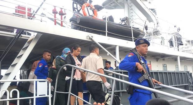 KN Belut Laut-4806 SAR Kapal Tenggelam di Perairan Batu Puteh