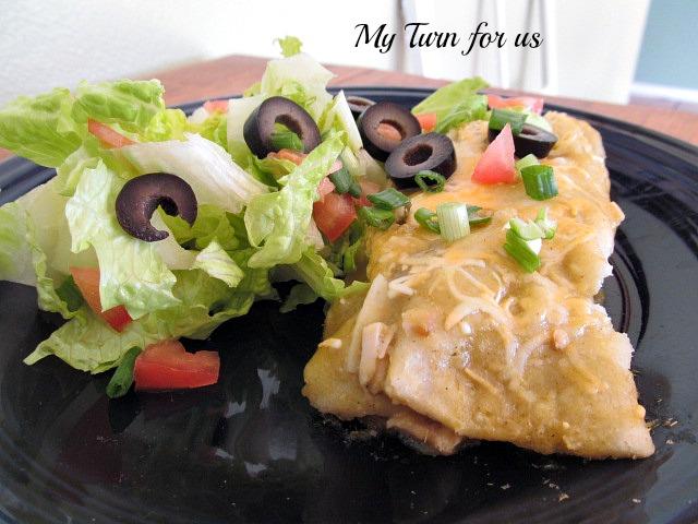 Skinny Green Chicken Enchilada recipe
