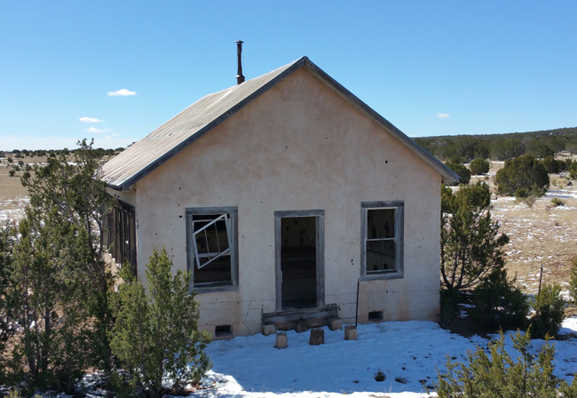 Abandoned Schoolhouse in Mountainair New Mexico