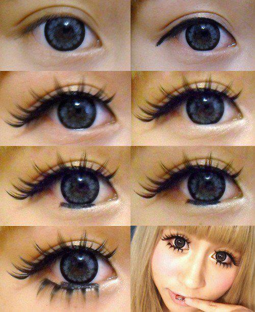 easy gyaru eye makeup tutorial