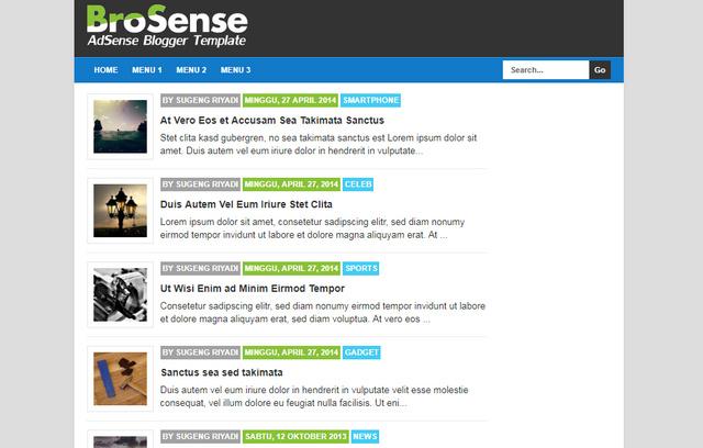 Brosense V2 Responsive Blogger Templates