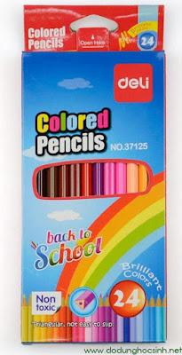 Bút chì màu Deli 31725 - 24 màu