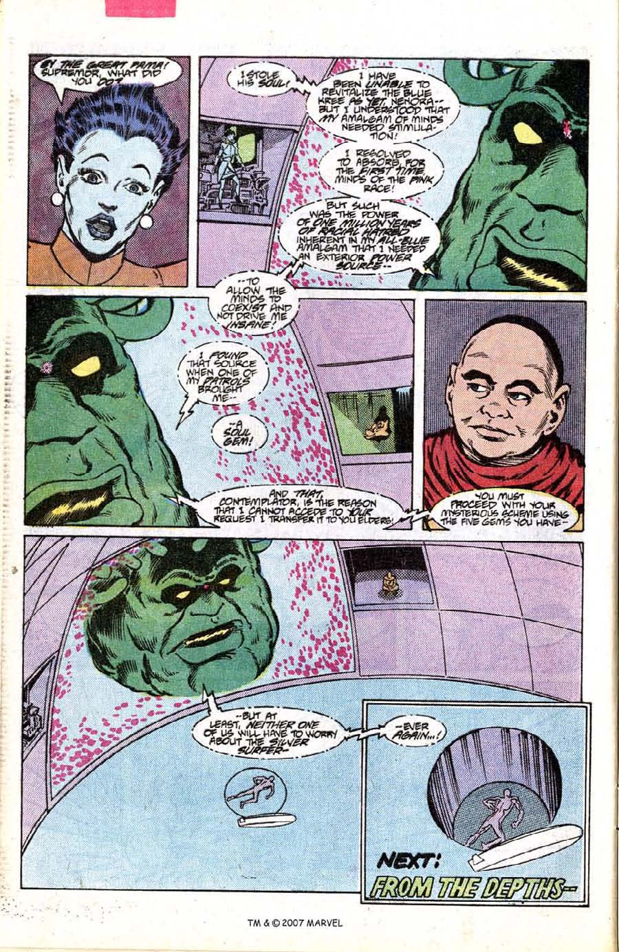 Read online Silver Surfer (1987) comic -  Issue #7 - 32