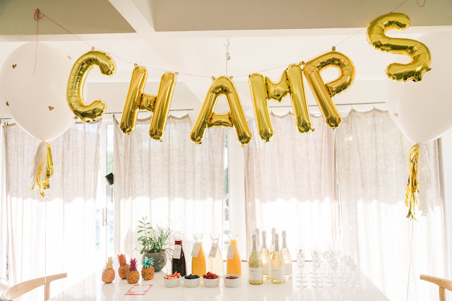diy champagne bar, how to set-up champagne bar, onehope champagne