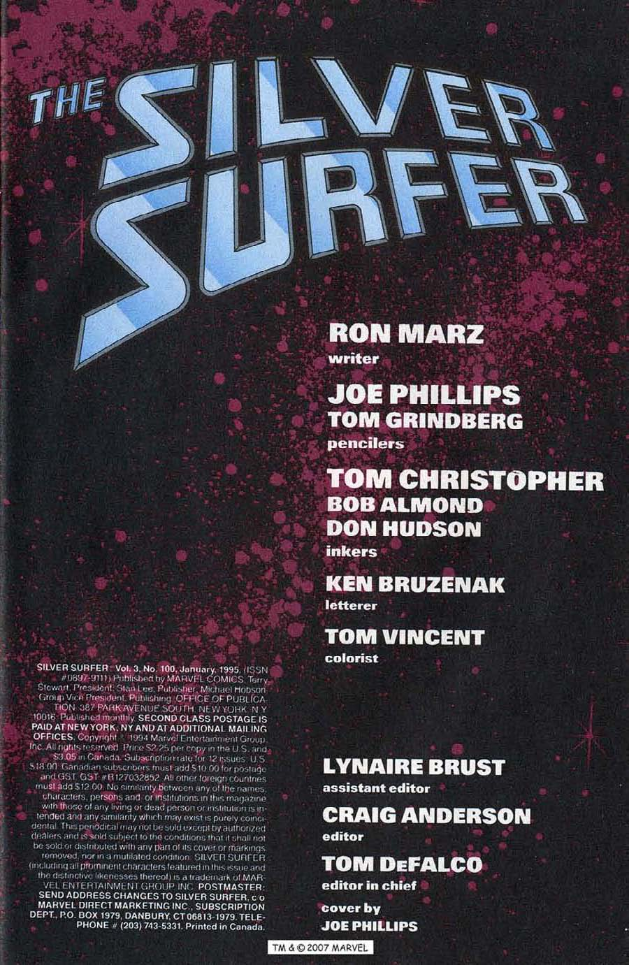 Read online Silver Surfer (1987) comic -  Issue #100 - 3
