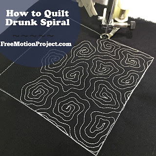 Learn how to quilt Drunk Spiral with help from a video created by Leah Day!