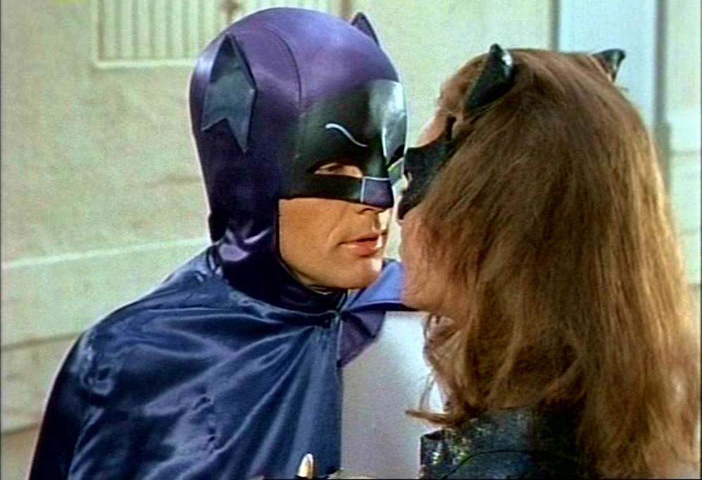Adam West and Julie Newmar