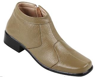 Jual sepatu boots wanita murah meriah ZO6508 bahan kulit warna hitam ukuran 37 sd 42