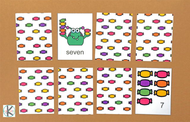 count to 10 halloween math game for preschool and kindergarten