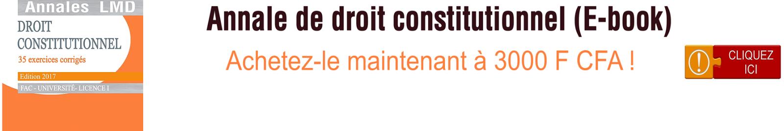 annale de droit constitutionnel ivoirien PDF