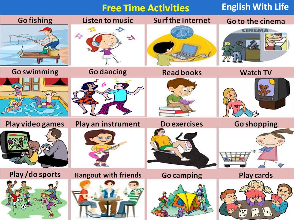 Englishclasspractice7grade: FREE TIME ACTIVITIES- LIKES AND DISLIKES