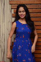 Pallavi Dora Actress in Sleeveless Blue Short dress at Prema Entha Madhuram Priyuraalu Antha Katinam teaser launch 024.jpg