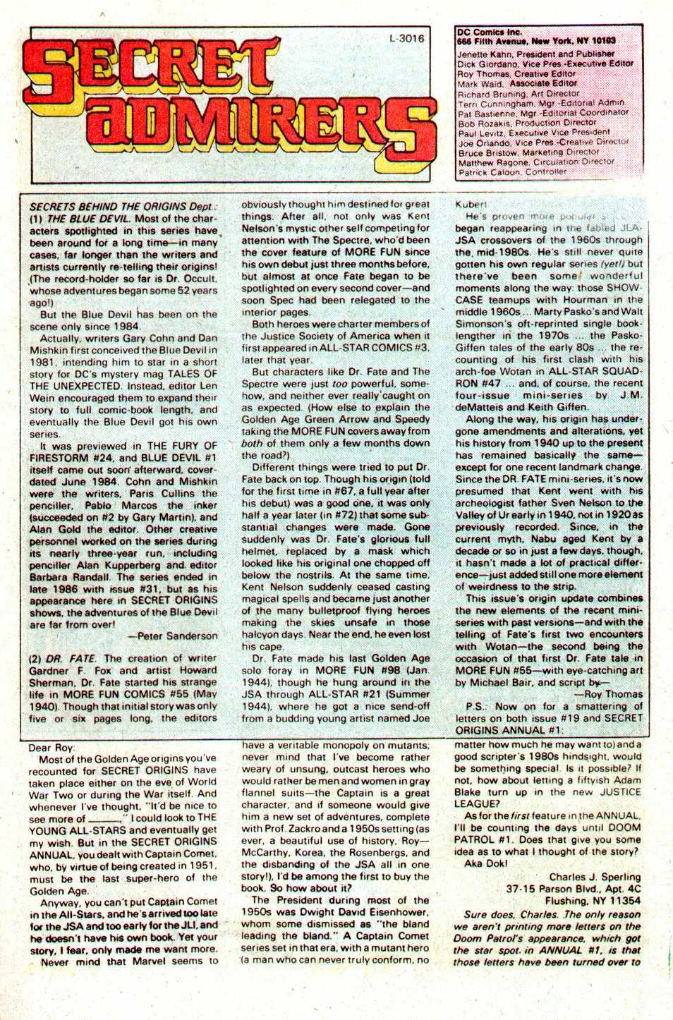 Read online Secret Origins (1986) comic -  Issue #24 - 40