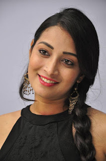 Actress Bhanu Sri Stills in Black Short Dress at Dandu Movie Audio Launch  0001.jpg