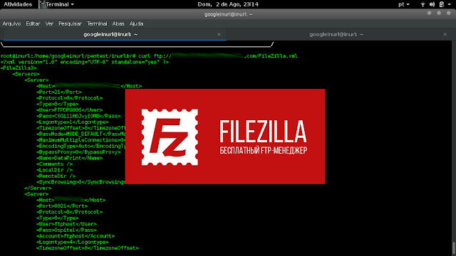 "It's an old vulnerability FileZilla, but we can still find servers with such a security breach, Vulnerability allows access to sensitive files from the server. Containing passwords and FTP users.  FileZilla version ~ 3.0.9.2+ (and possibly older) store all FTP connection data .xml files in plain text.  The following files are what you need to know about:  filezilla.xml – Stores most recent server info including password in plaintext. recentservers.xml – Stores all recent server info including password in plaintext. sitemanager.xml – Stores all saved sites server info including password in plaintext.  These files can usually be found in the following directories: Windows XP/2K: ""C:\Documents and Settings\username\Application Data\FileZilla"" Windows Vista: ""C:\Users\username\AppData\Roaming\FileZilla\"" Linux: ""/home/username/.filezilla/""  FileZilla configuration files FileZilla is a cross-platform application. That's why it stores its settings in platform-neutral XML files."