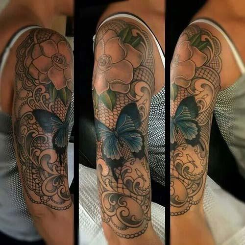 dantel dövmeleri lace tattoos 21
