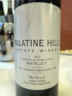 Palatine Hills Neufeld Vineyard Merlot 2012 - VQA Niagara Lakeshore, Niagara Peninsula, Ontario, Canada (90 pts)