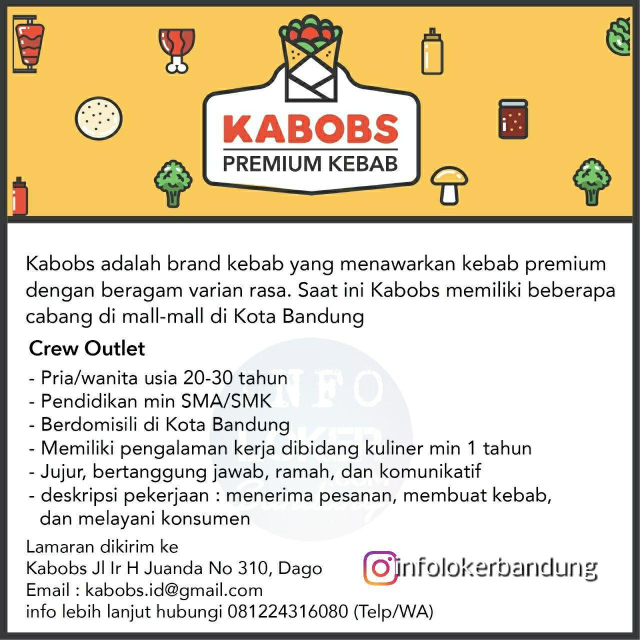 Lowongan Kerja Kabobs Premium Kebab Bandung Mei 2018
