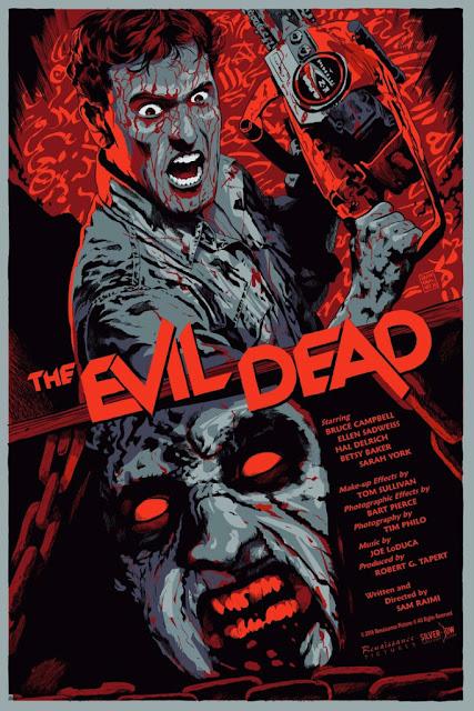 The Evil Dead Regular Edition Screen Print by Francesco Francavilla & Silver Bow Gallery