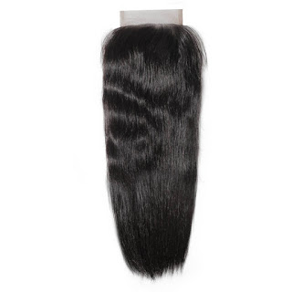 7A 4 X 4 Lace Closure Brazilian Hair Straight Hair–Price:$34.56 /piece (15%off)