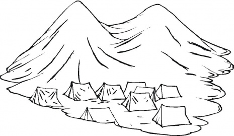 Mountain Pictures Mountains Coloring Page