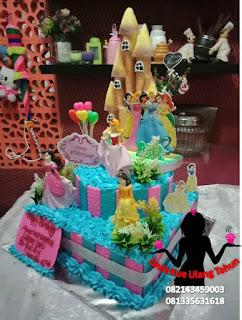 Kue Tart Ulang Tahun Karakter Princess