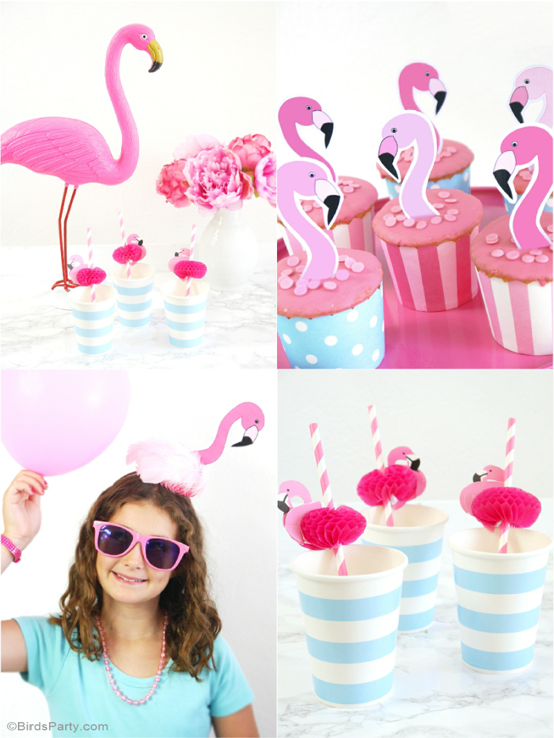 Flamingo Pool Party Birthday DIY Decorations - BirdsParty.com