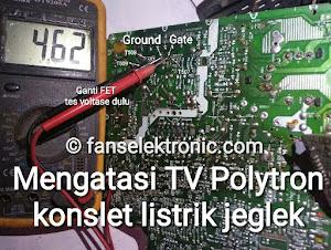 tv polytron konslet listrik jeglek