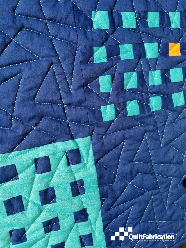Hippo Blue quilt closeup