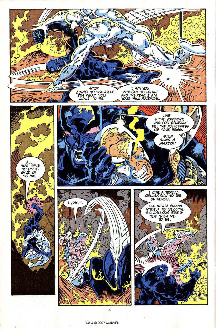 Read online Silver Surfer (1987) comic -  Issue #64 - 16
