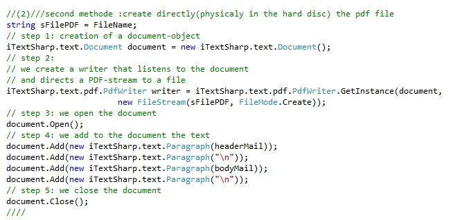 creating PDF files using C# | Hammami Programmer