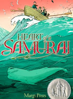 book cover of Heart of a Samurai by Margi Preus