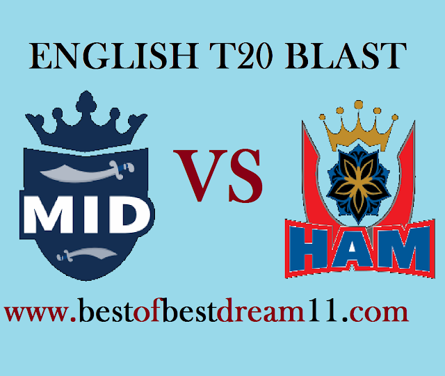 mid vs ham match dream11