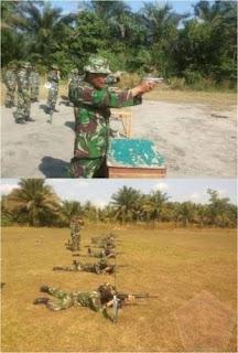 Sebanyak 80 Personel Militer Korem 044/Gapo Melaksanakan Latihan Menembak Senjata Ringan