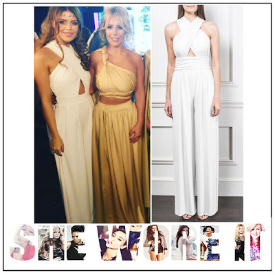 Bright, Chloe Lewis, Cross Over Back, Cross Over Front, Cut Out Detail, Gorgeous Couture, High Waisted, Jersey, Jumpsuit, Ruched, Sleeveless, The Only Way Is Essex, TOWIE, White, Wide Leg,