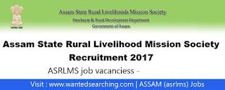 Assam state rural live;ihoot mission societu job vacancies
