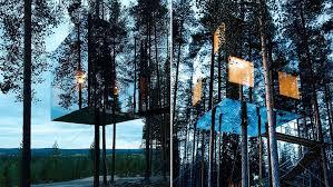 Rumah-Cermin-yang-berkamuflase-di-swedia