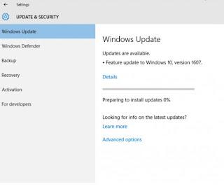 Download Windows 10 Versi 1607 Anniversary Update