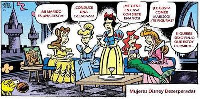 Princesas Disney quejandose de sus esposos