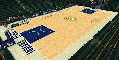 NBA 2K14 Pacers Court HD Mod