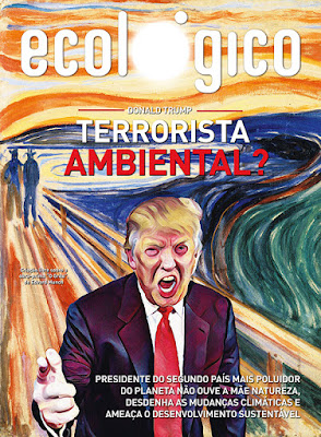 Revista com Donald Trump na capa