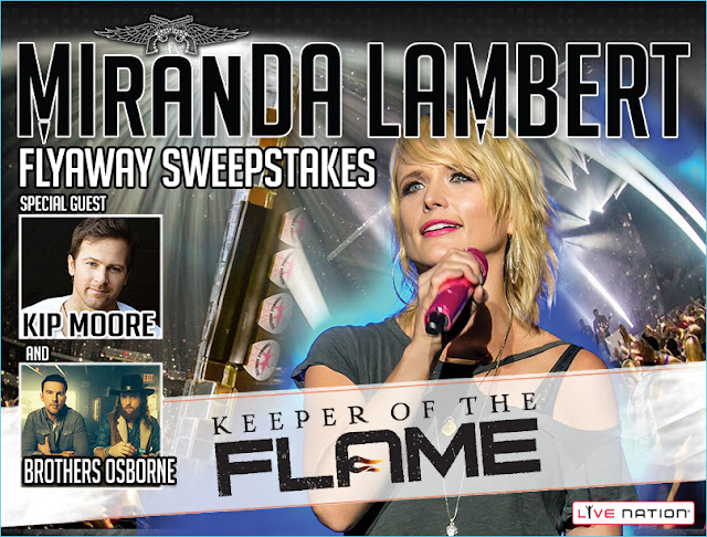 "Live Nation has your chance to enter once to win a vacation to West Palm Beach Florida where you'll get to see Miranda Lambert's ""Keeper Of The Flame"" tour show and more!"